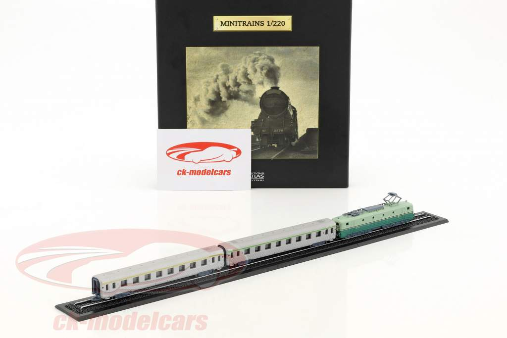 MISTRAL train with track green / white 1:220 Atlas