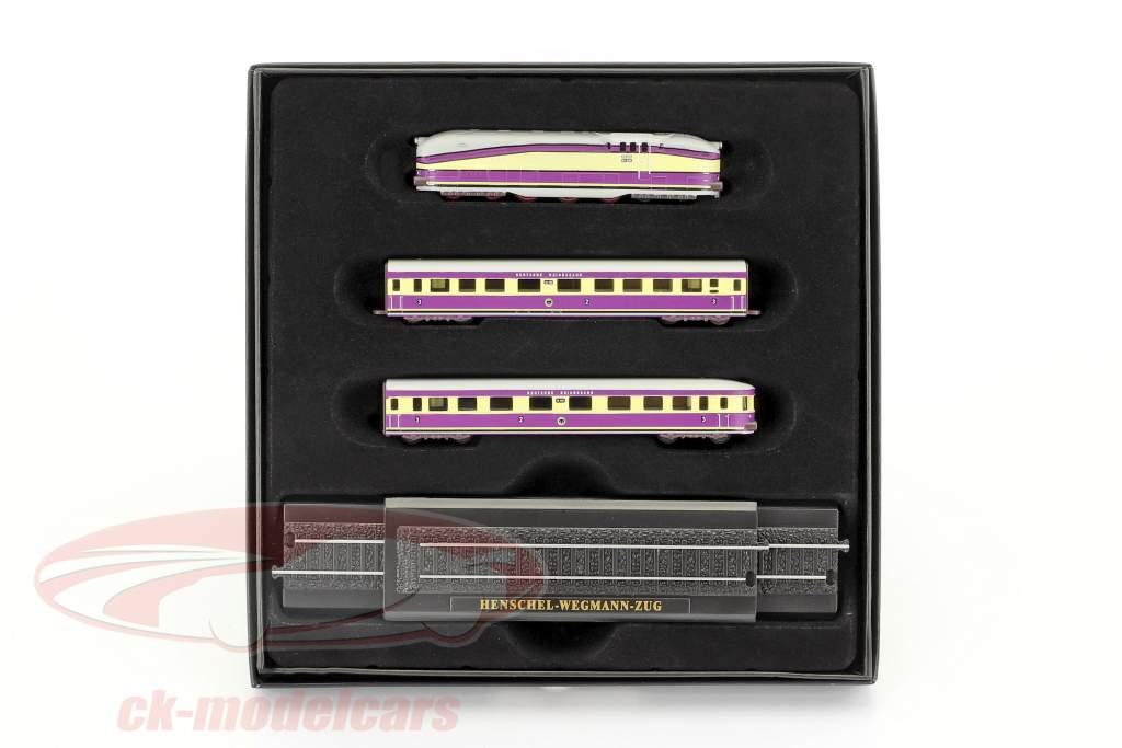 HENSCHEL-WEGMANN Zug mit Gleise violett / weiß 1:220 Atlas