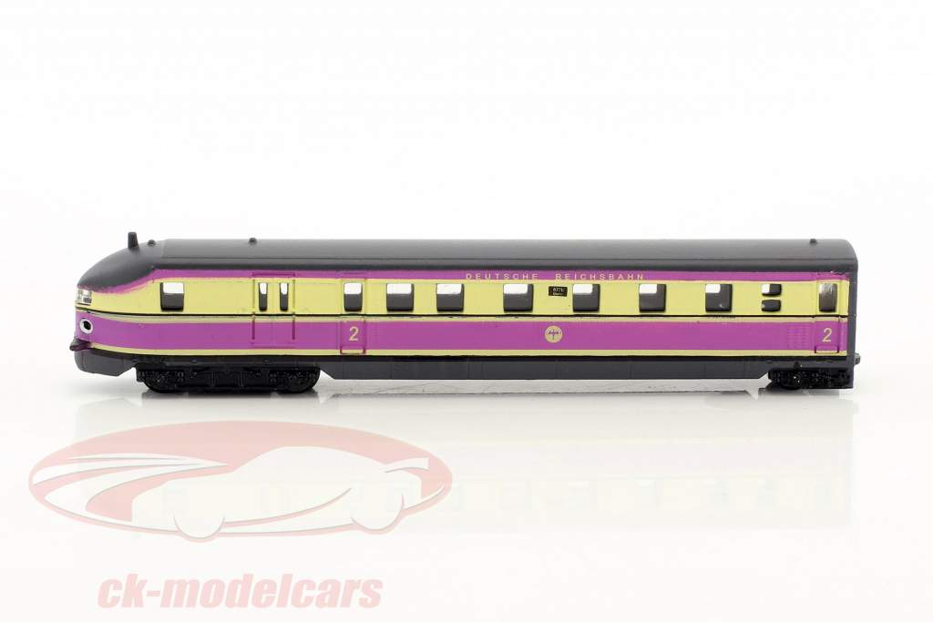SVT 877 FLIEGENDER HAMBURGER train with track pink / white 1:220 Atlas
