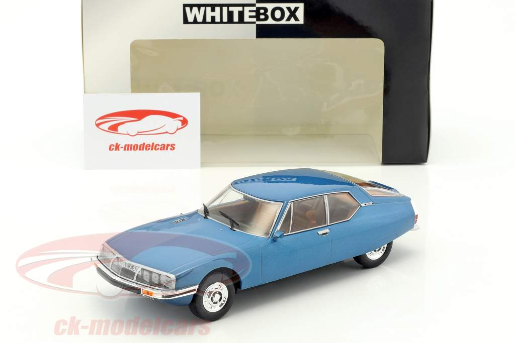 Citroen SM Baujahr 1970 blau metallic 1:24 WhiteBox
