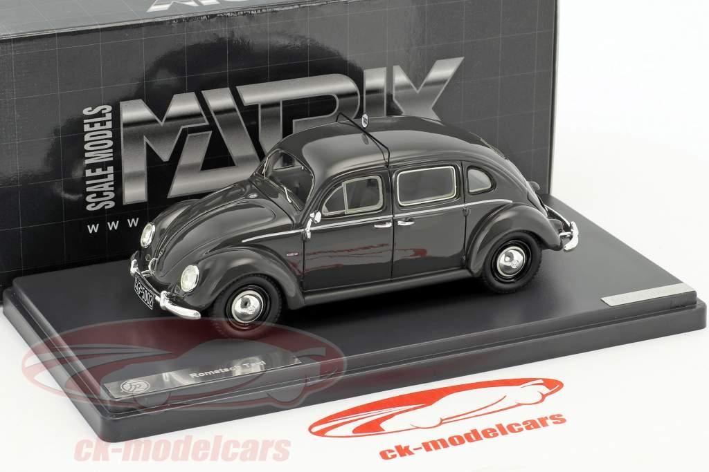 Volkswagen VW Käfer Rometsch Taxi 4-Door Baujahr 1951 dunkelgrau 1:43 Matrix