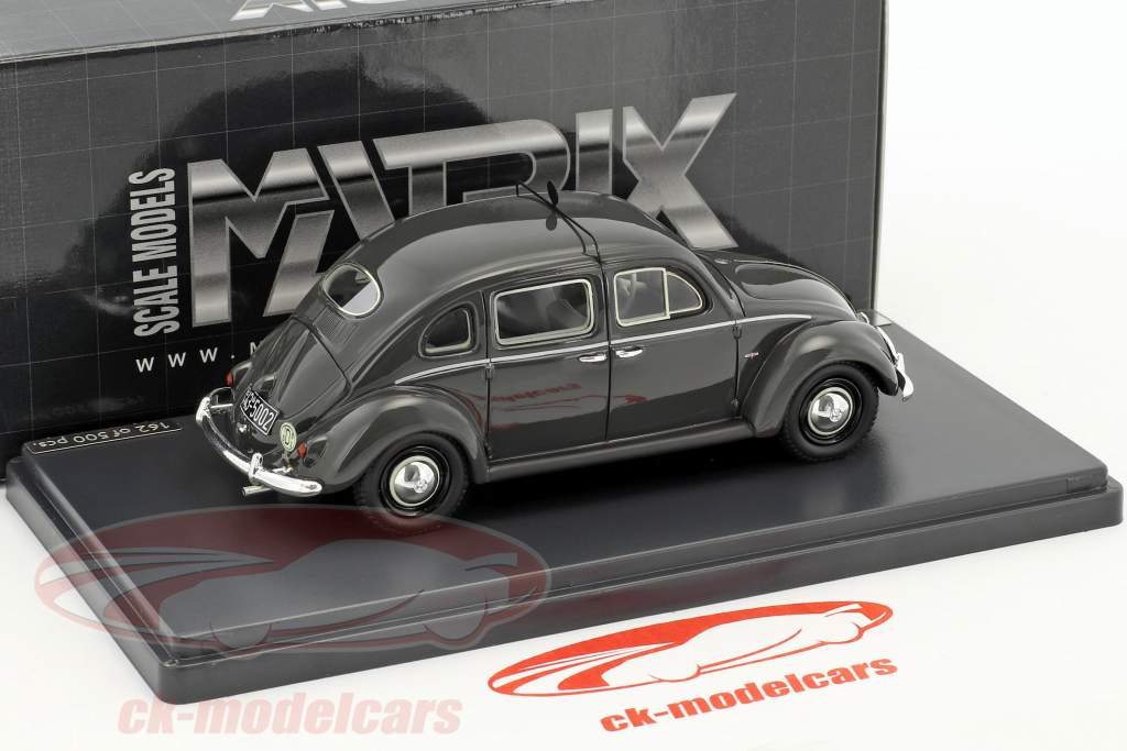 Volkswagen VW Käfer Rometsch taxi 4-Door année de construction 1951 sombre gris 1:43 Matrix