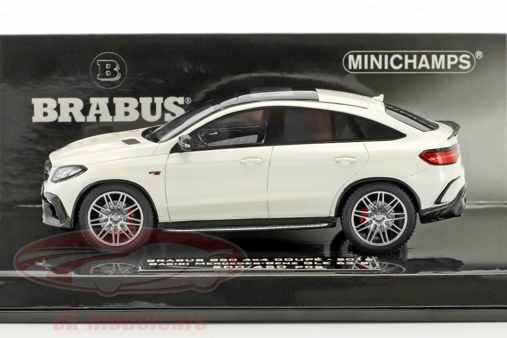 Brabus 850 4x4 coupe based on Mercedes-Benz AMG GLE 63 S year 2016 white 1:43 Minichamps