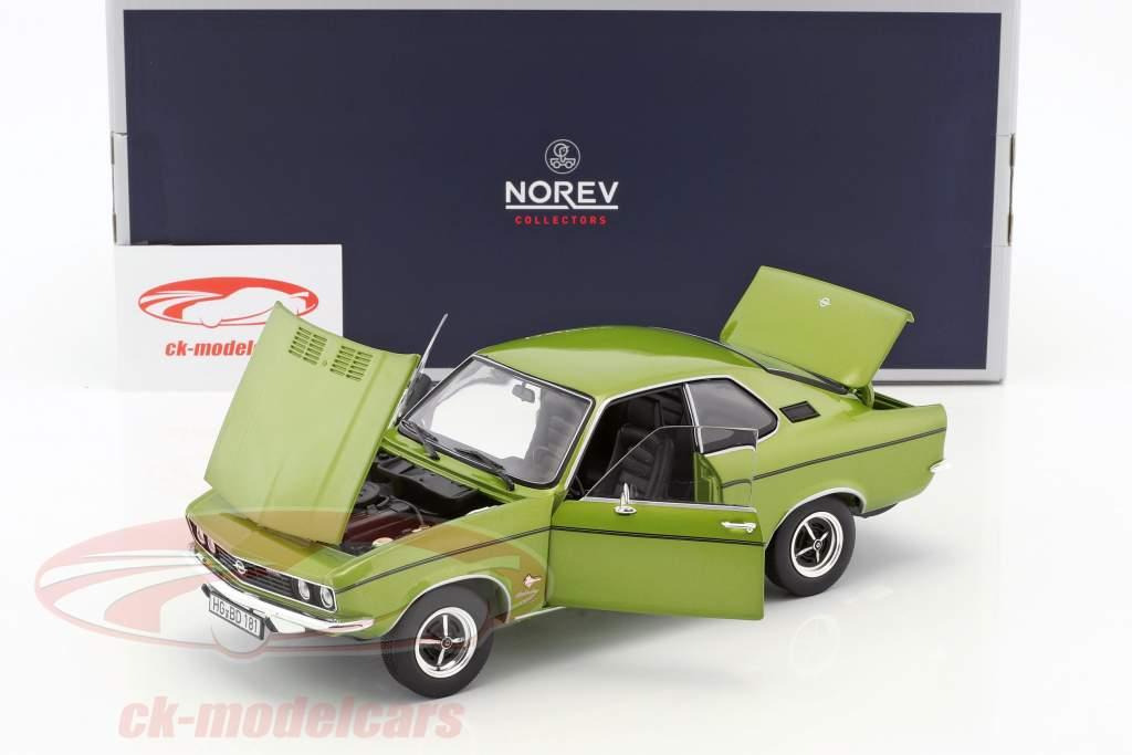 Opel Manta année de construction 1970 citron vert métallique 1:18 Norev