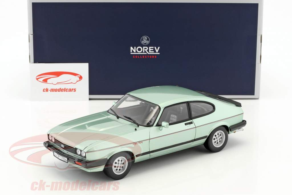Ford Capri Mk III 2.8 Injection Baujahr 1982 hellgrün metallic 1:18 Norev