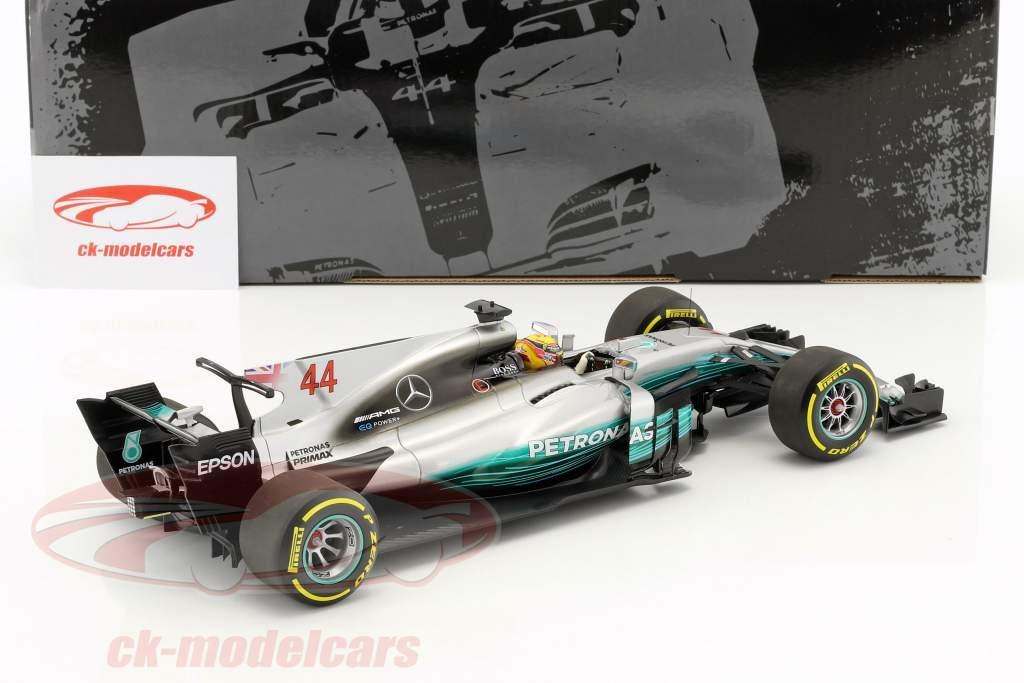 Lewis Hamilton Mercedes F1 W08 EQ Power+ #44 Weltmeister Formel 1 2017 1:18 Minichamps