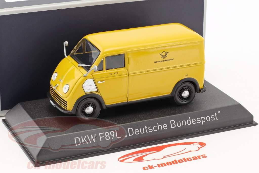 DKW F89L Deutsche Bundespost Baujahr 1952 gelb 1:43 Norev