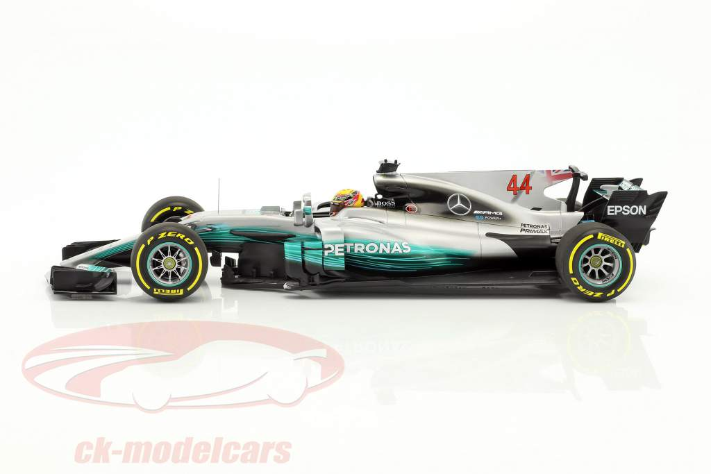 Lewis Hamilton Mercedes F1 W08 EQ Power  #44 World Champion Formel 1 2017 1:18 Minichamps