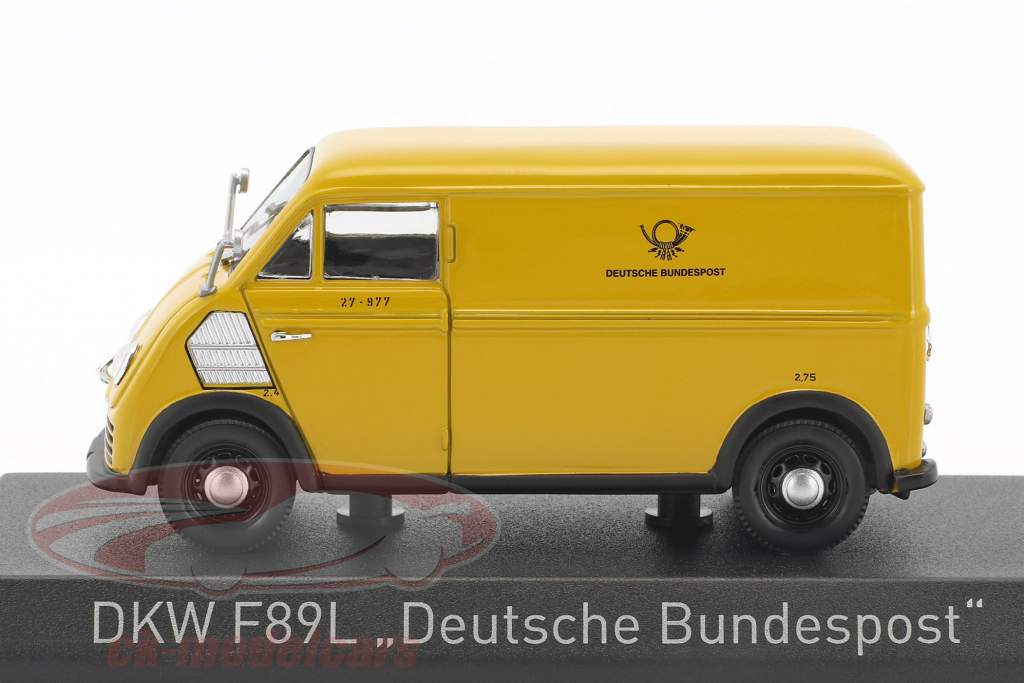 DKW F89L Deutsche Bundespost year 1952 yellow 1:43 Norev