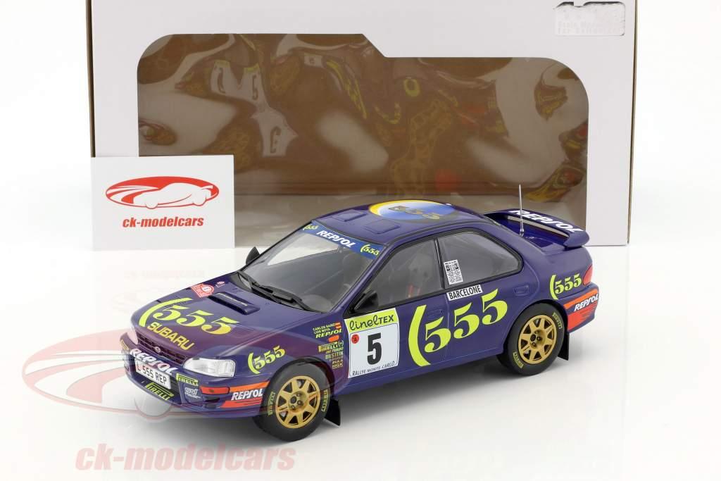 Subaru Impreza 555 #5 Winner Rallye Monte Carlo 1995 Sainz, Moya 1:18 Solido