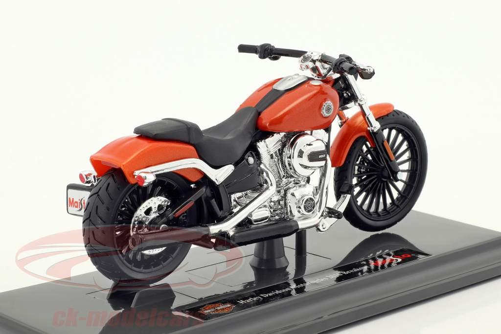 Harley-Davidson Breakout anno di costruzione 2016 arancione 1:18 Maisto