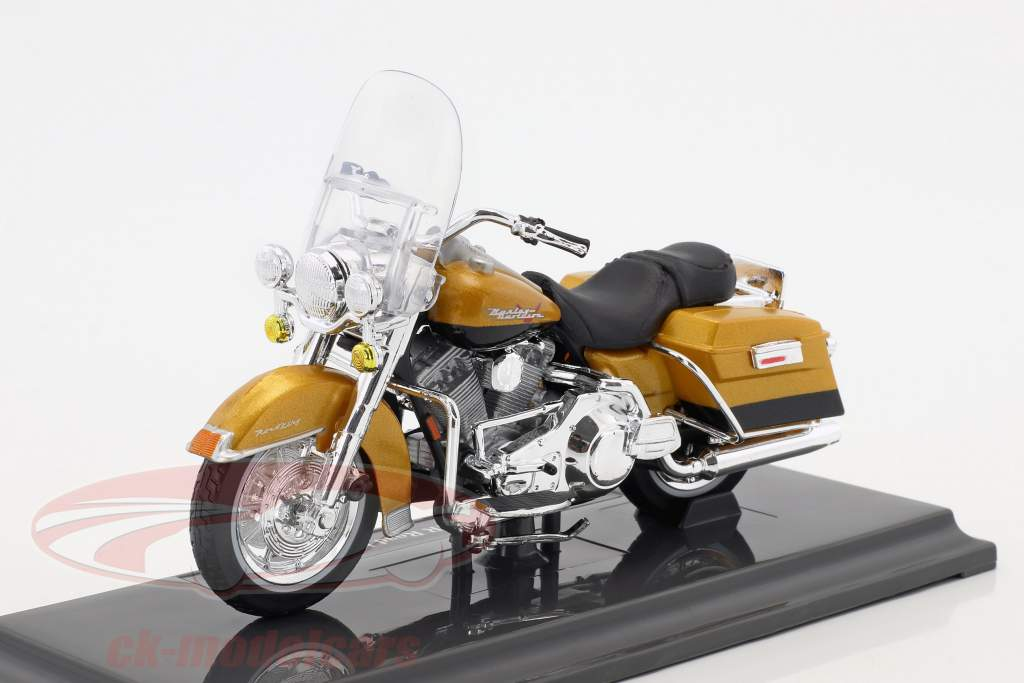 Harley-Davidson FLHR Road King year 1999 gold metallic 1:18 Maisto