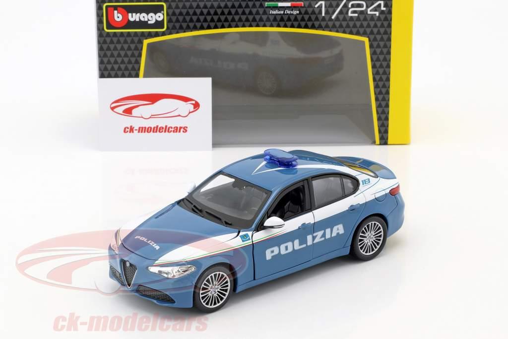 Alfa Romeo Giulia Polizia blu / bianco 1:24 Bburago