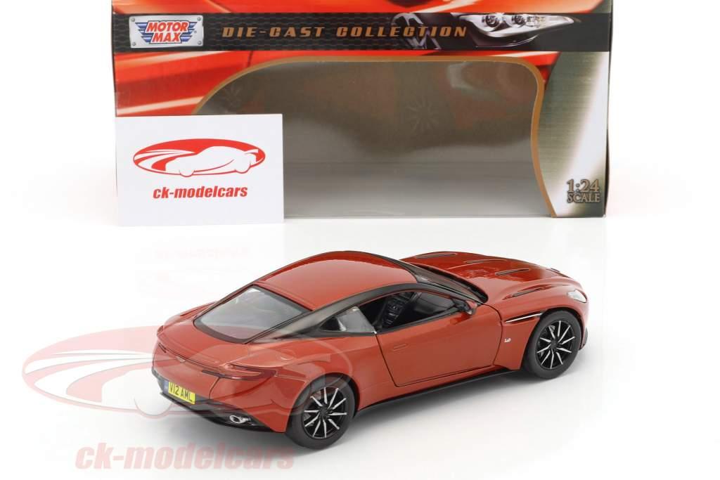 Aston Martin DB11 year 2017 copper orange 1:24 MotorMax