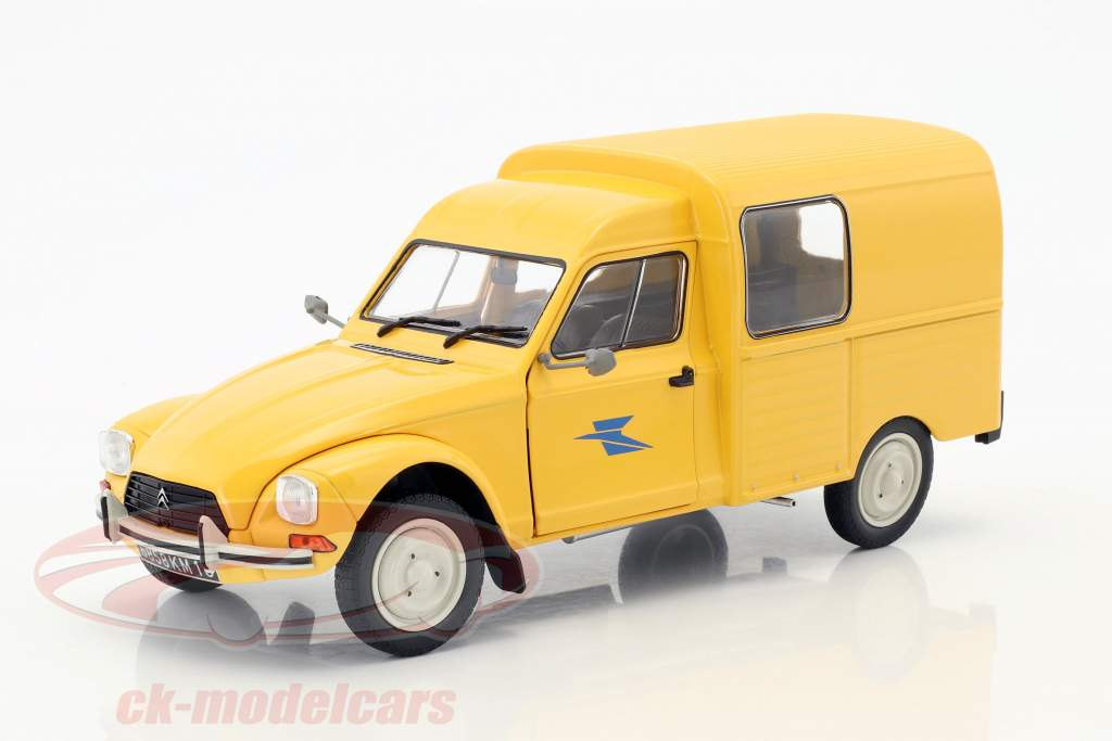 Citroen Acadiane La Poste year 1984 yellow 1:18 Solido