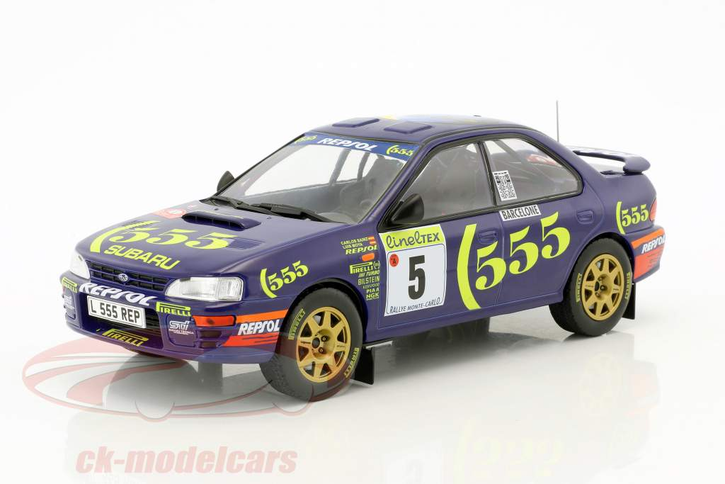 Subaru Impreza 555 #5 vincitore Rallye Monte Carlo 1995 Sainz, Moya 1:18 Solido