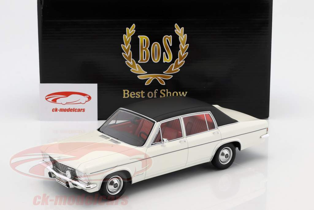 Opel Admiral B year 1971 white / black 1:18 BoS-Models