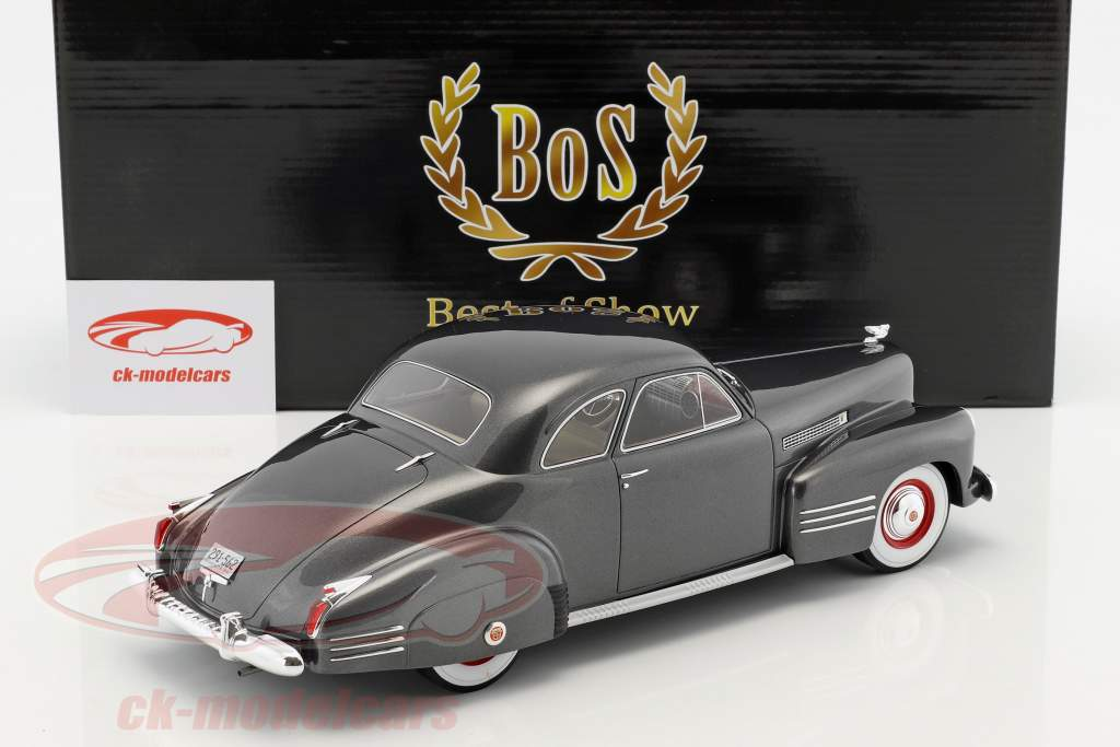 Cadillac Series 62 Club Coupe Baujahr 1941 dunkel grau metallic 1:18 BoS-Models