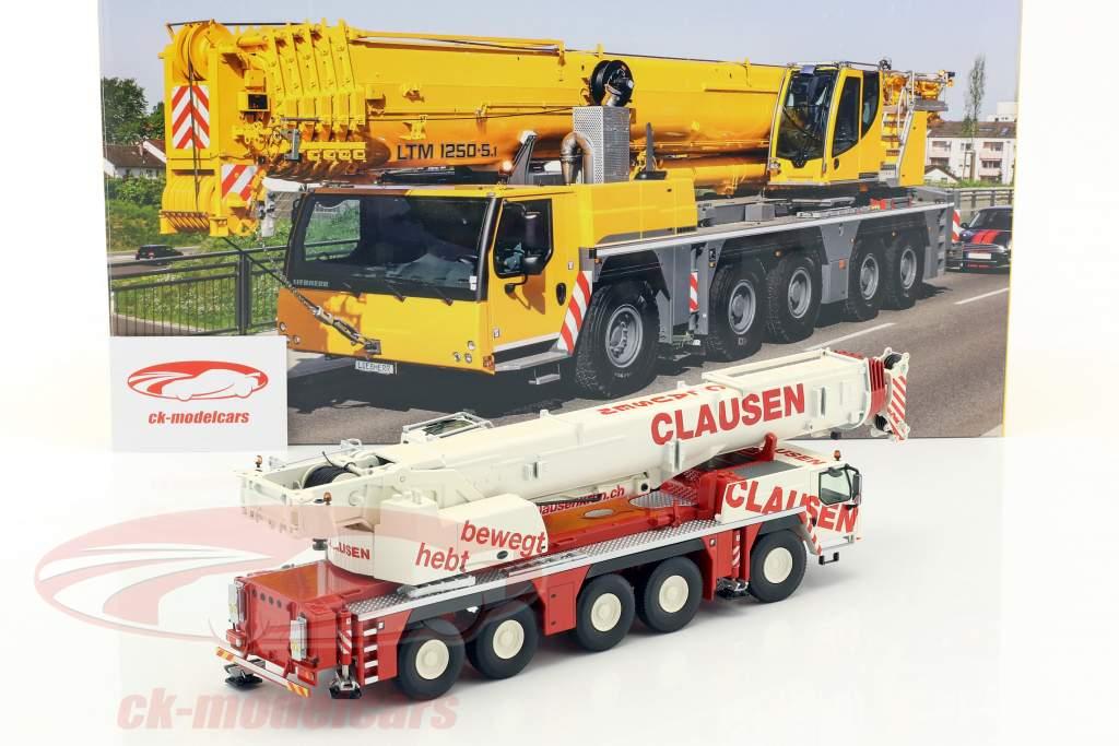 Liebherr LTM 1250-5.1 Mobilkran Clausen rot / weiß 1:50 NZG