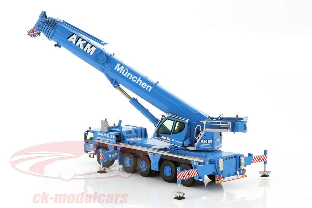 Liebherr LTM 1250-5.1 mobile crane AKM blue / white 1:50 NZG