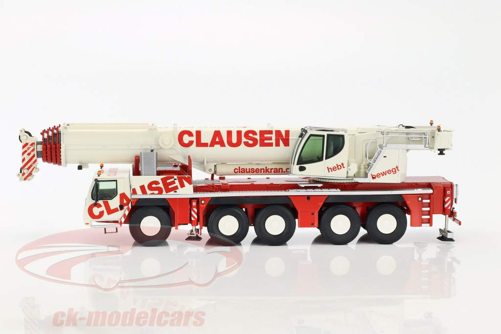 Liebherr LTM 1250-5.1 mobile crane Clausen red / white 1:50 NZG