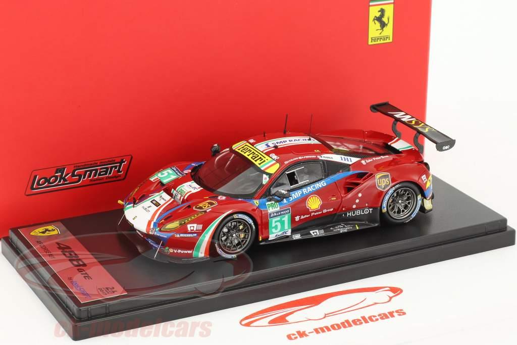 Ferrari 488 GTE #51 24h LeMans 2017 Calado, Guidi, Rugolo 1:43 LookSmart