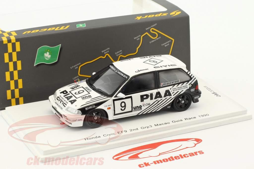 Honda Civic EF9 #9 2nd Grp 3 Macau Guia Race 1990 Koji Sato 1:43 Spark