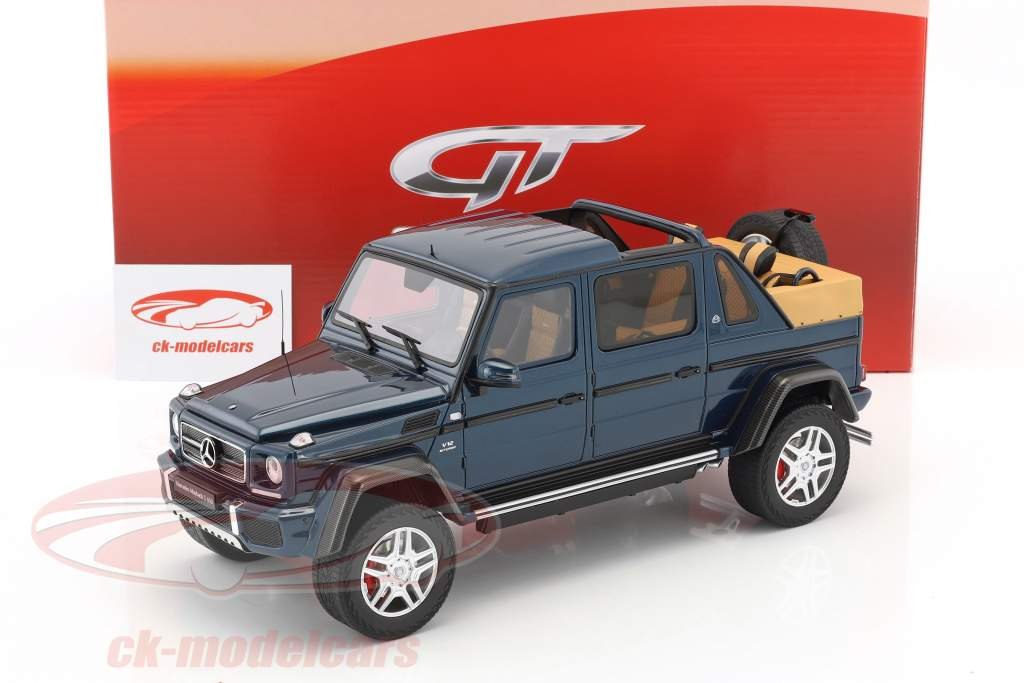 Mercedes-Benz Maybach G650 Landaulet year 2017 blue metallic 1:18 GT-Spirit