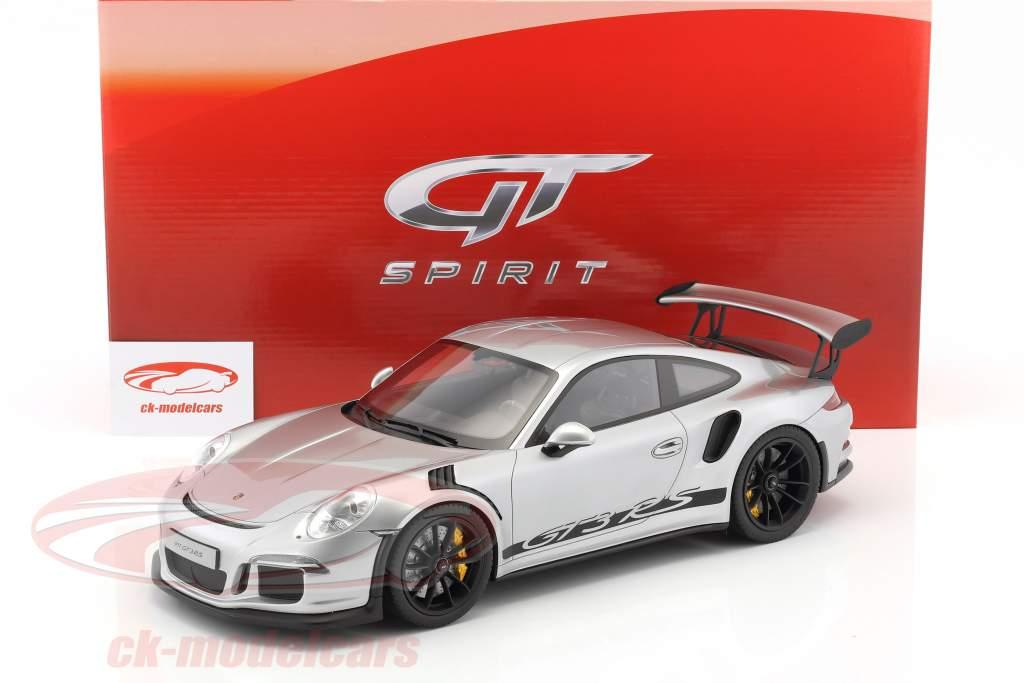 Porsche 911 (991) GT3 RS année de construction 2015 argent 1:12 GT-Spirit
