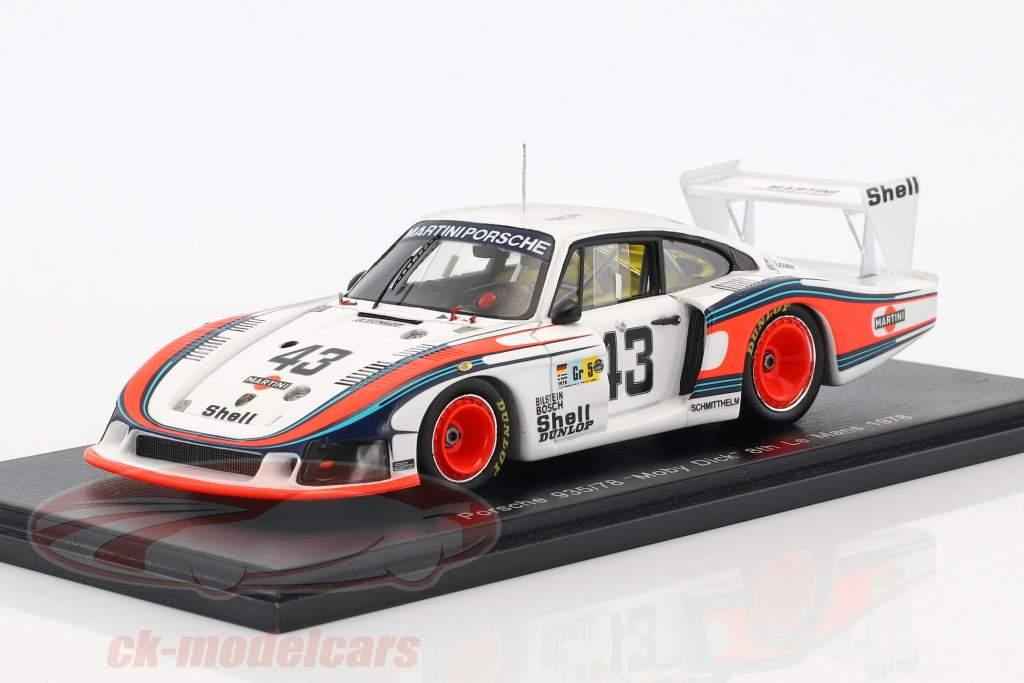 Porsche 935/78 Moby Dick #43 8 24h LeMans 1978 Schurti, Stommelen 1:43 Spark