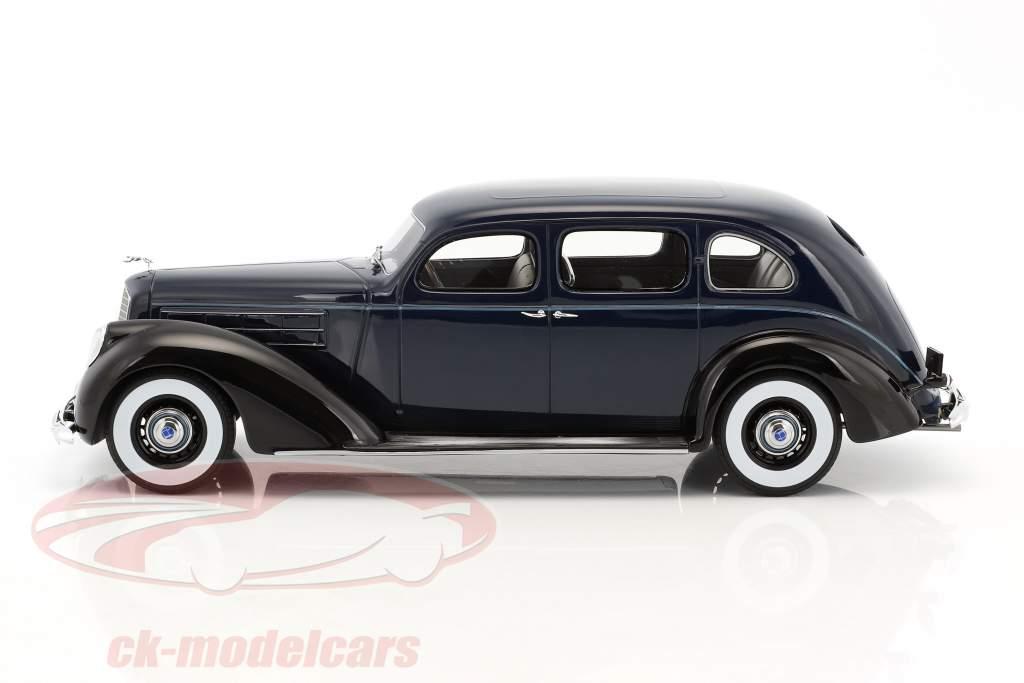 Lincoln V-12 Model K berline année de construction 1937 sombre bleu / noir 1:18 BoS-Models