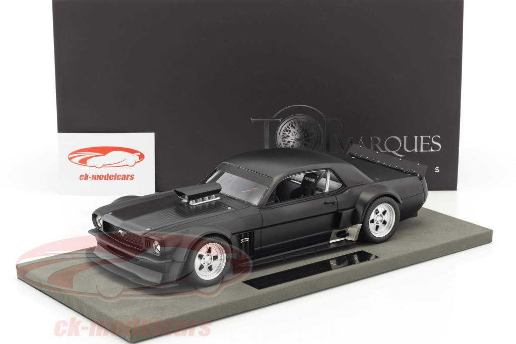 Ford Mustang Hoonigan V2 Black Edition année de construction 1965 natte noir 1:18 TopMarques