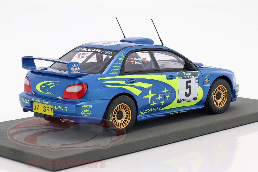 Subaru Impreza S7 WRC #5 gagnant Rallye nouvelle-Zélande 2001 Burns, Reid 1:18 TopMarques