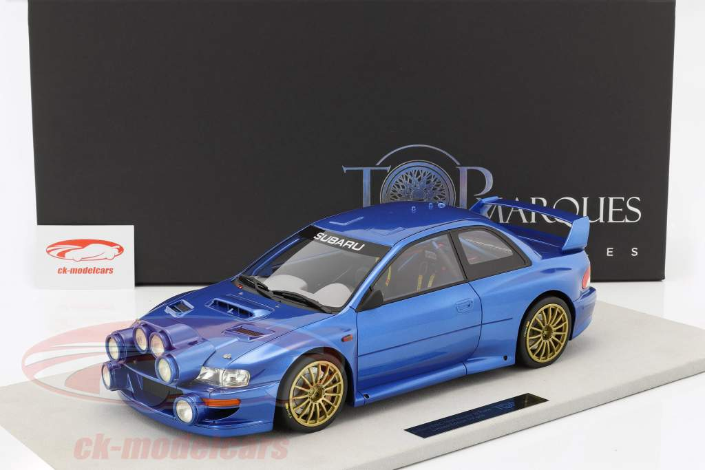 Subaru Impreza S4 WRC year 1998 blue metallic 1:12 TopMarques