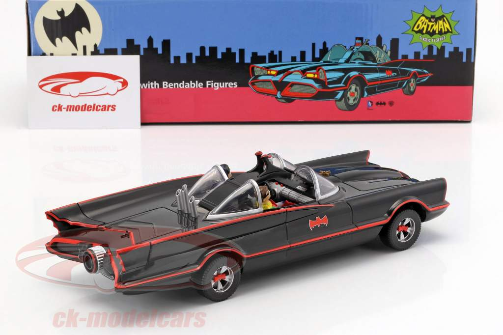 Batmobile avec cintrable figures Batman et Robin Classic TV série Batman (1966) 1:24 NJCroce