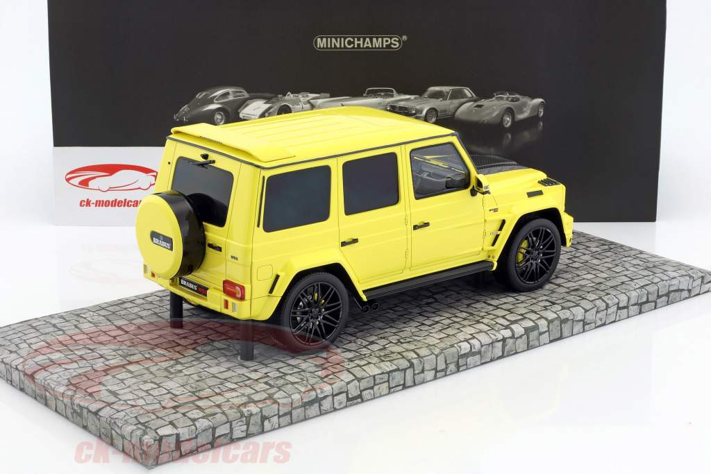 Brabus 850 6.0 Biturbo Widestar based on Mercedes-Benz AMG G63 year 2016 yellow 1:18 Minichamps