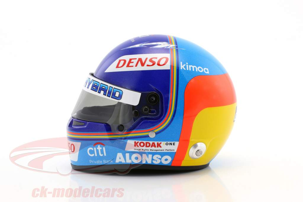 Fernando Alonso Toyota Gazoo Racing Winner 24h LeMans 2018 casque 1:2 Bell
