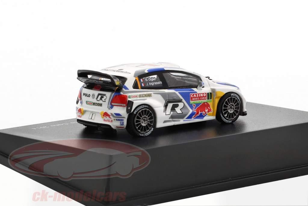 Volkswagen VW Polo R WRC #1 vincitore Rallye Monte Carlo 2014 Ogier, Ingrassia 1:87 Spark