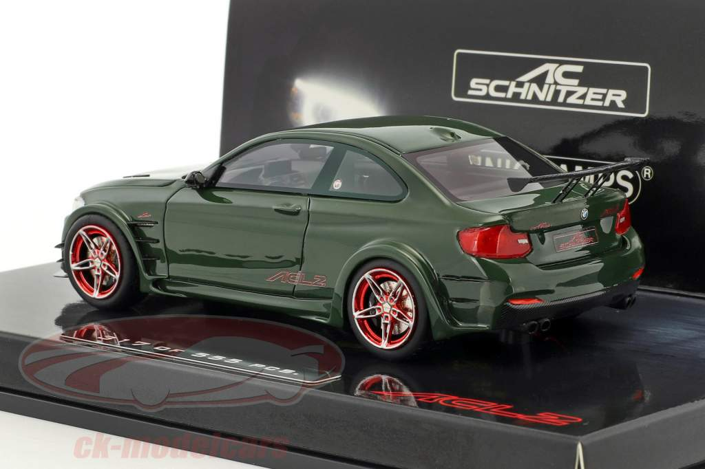BMW AC Schnitzer L2 year 2016 dark green 1:43 Minichamps