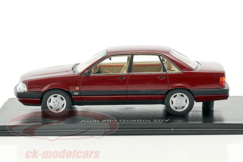 Audi 200 quattro 20V year 1990 dark red metallic 1:43 Neo