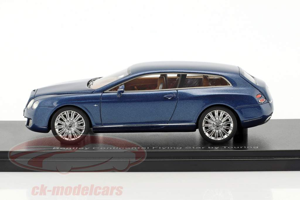 Bentley Continental Flying Star by Touring year 2010 blue metallic 1:43 Neo