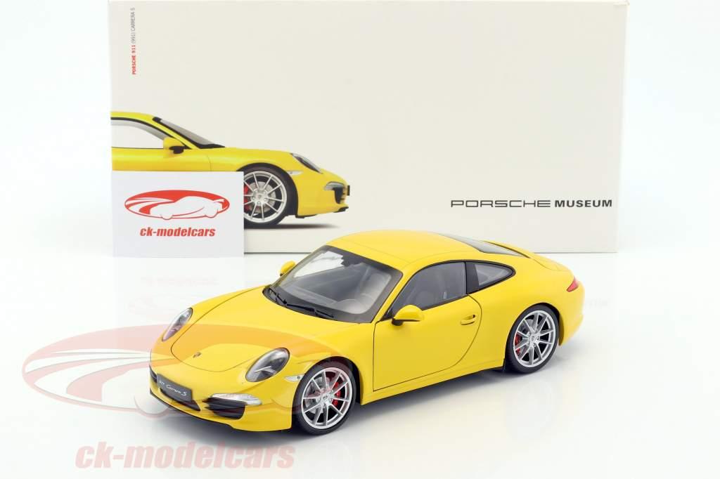 Porsche 911 (991) Carrera S anno di costruzione 2015 corsa giallo 1:18 Welly
