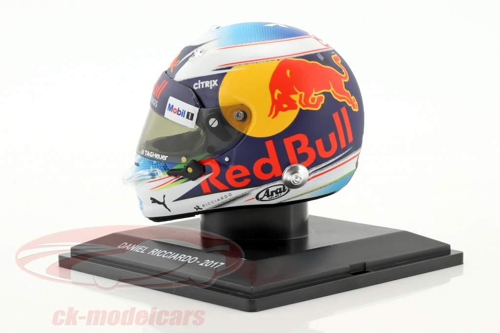 Daniel Ricciardo formule 1 2017 Red Bull Racing casque 1:5 Spark