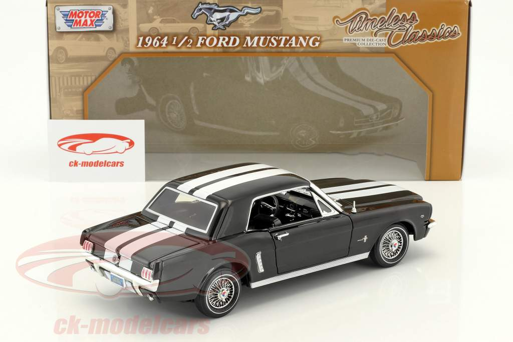 Ford Mustang 1/2 Hardtop year 1964 black / white 1:18 MotorMax