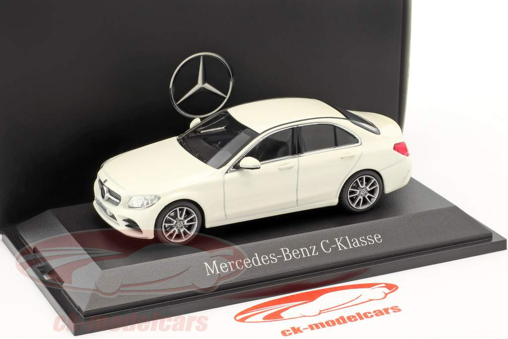 Mercedes-Benz C-Class MOPF W205 designo diamond white 1:43 Norev