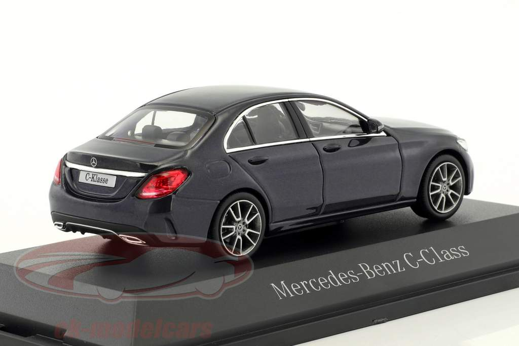 Mercedes-Benz C-Class MOPF W205 anthracite blue 1:43 Norev
