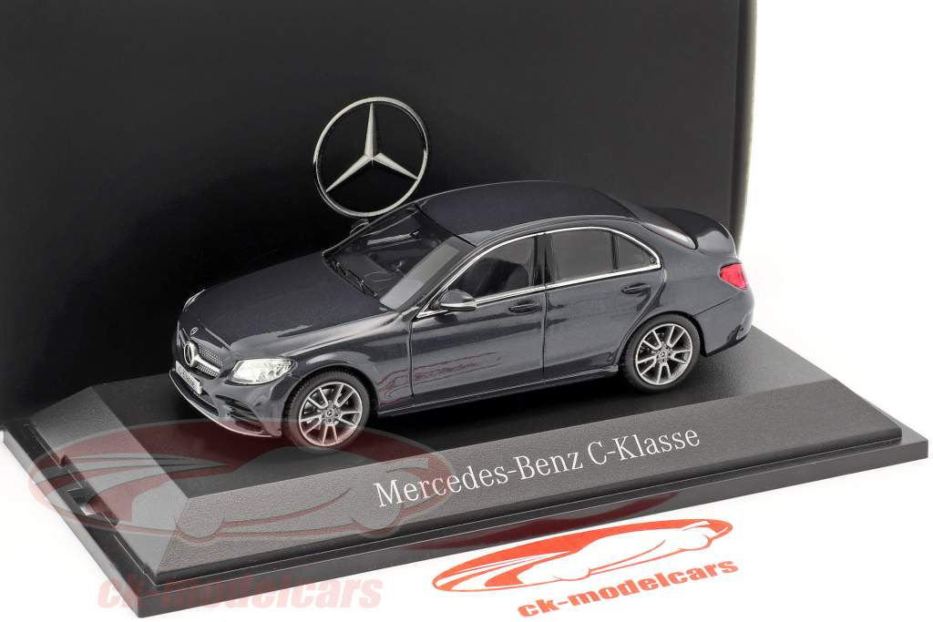 Mercedes-Benz Classe C MOPF W205 antracite blu 1:43 Norev