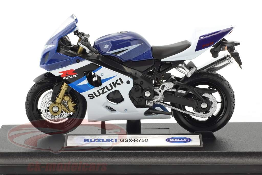 Suzuki GSX-R750 blu / bianco 1:18 Welly
