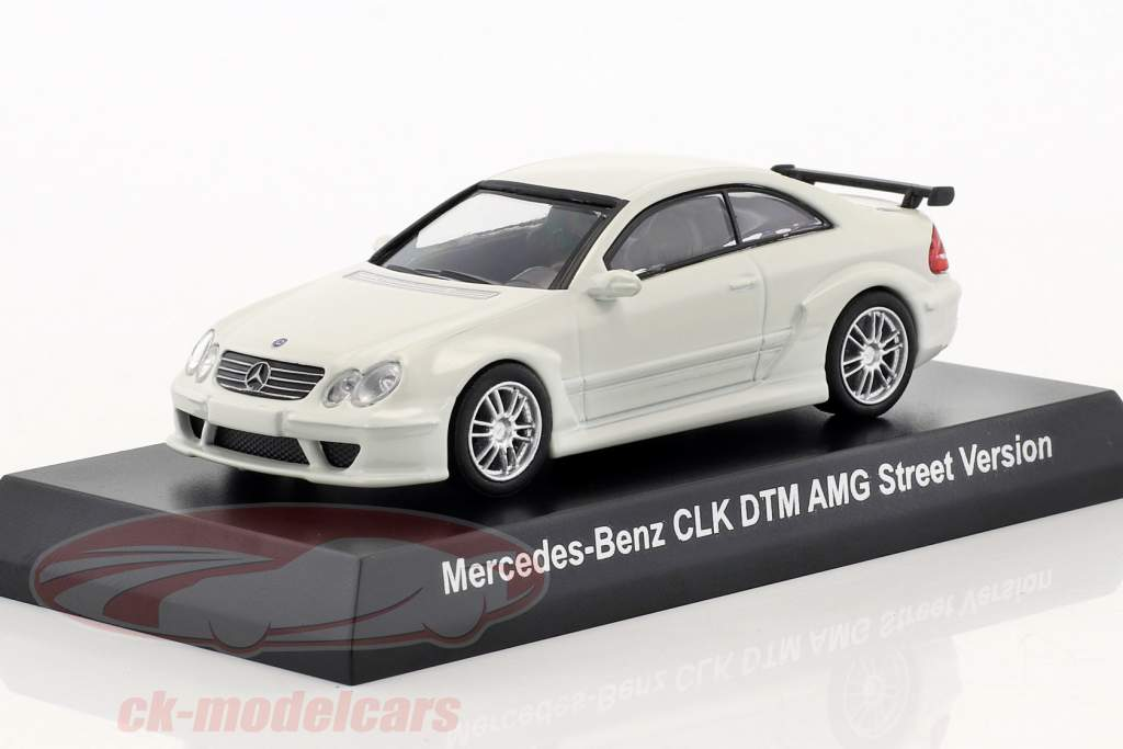 Mercedes-Benz CLK DTM AMG Street Version bianco 1:64 Kyosho