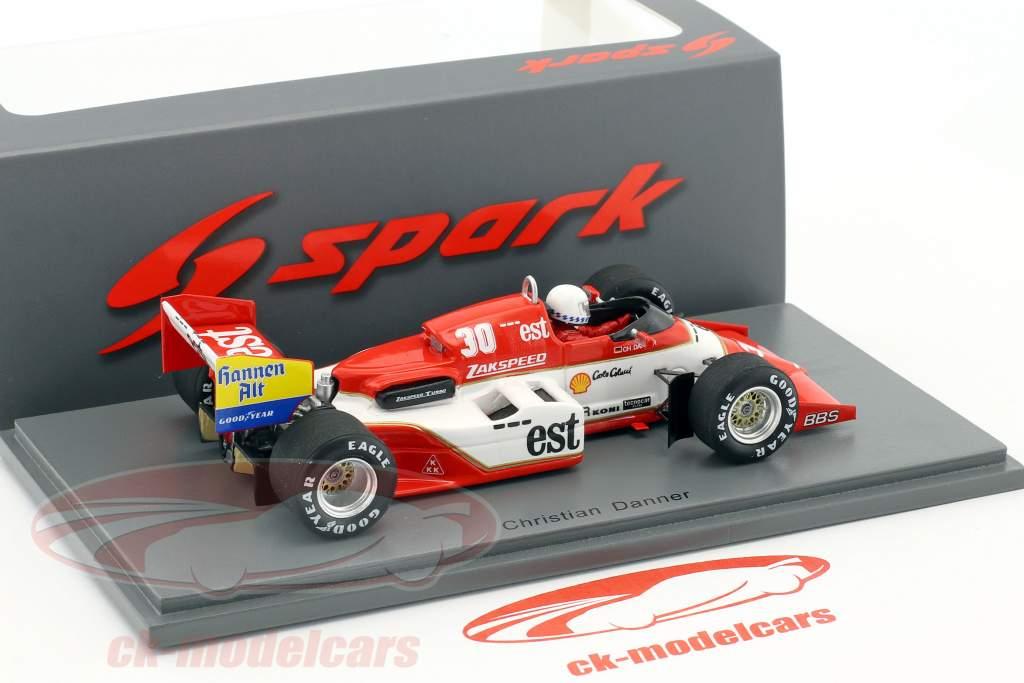 Christian Danner Zakspeed 841 #30 Belgio GP formula 1 1985 1:43 Spark